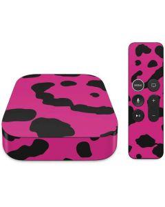 Rosy Leopard Apple TV Skin