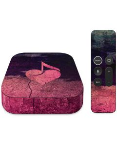 Rustic Musical Heart Apple TV Skin