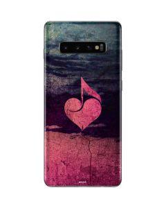 Rustic Musical Heart Galaxy S10 Plus Skin