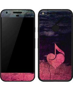 Rustic Musical Heart Google Pixel Skin
