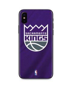 Sacramento Kings Jersey iPhone X Skin