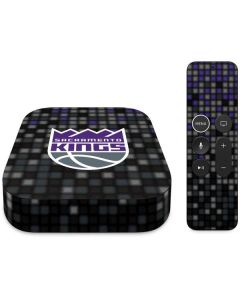 Sacramento Kings Purple Pixels Apple TV Skin