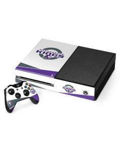 Sacramento Kings White Split Xbox One Console and Controller Bundle Skin