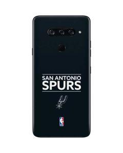 San Antonio Spurs Standard - Black LG V40 ThinQ Skin