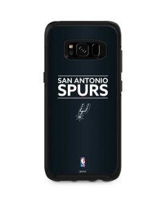 San Antonio Spurs Standard - Black Otterbox Symmetry Galaxy Skin