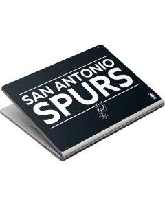 San Antonio Spurs Standard - Black Surface Book Skin