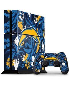 Los Angeles Chargers Tropical Print PS4 Console and Controller Bundle Skin