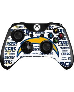 Los Angeles Chargers White Blast Xbox One Controller Skin