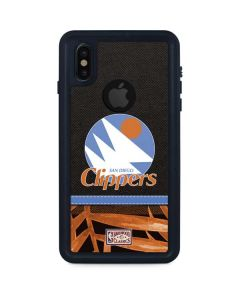 San Diego Clippers Retro Palms iPhone XS Waterproof Case