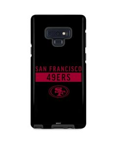 San Francisco 49ers Black Performance Series Galaxy Note 9 Pro Case