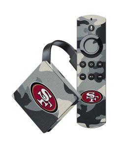San Francisco 49ers Camo Amazon Fire TV Skin