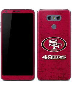 San Francisco 49ers Distressed LG G6 Skin