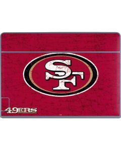 San Francisco 49ers Distressed Galaxy Book Keyboard Folio 12in Skin