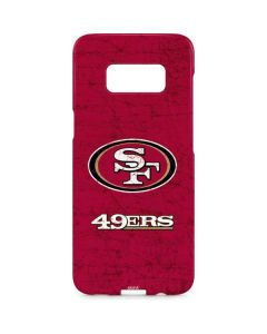 San Francisco 49ers Distressed Galaxy S8 Plus Lite Case