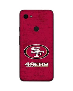 San Francisco 49ers Distressed Google Pixel 3a Skin