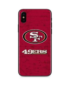 San Francisco 49ers Distressed iPhone X Skin