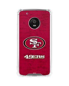 San Francisco 49ers Distressed Moto G5 Plus Clear Case