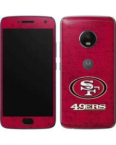 San Francisco 49ers Distressed Moto G5 Plus Skin