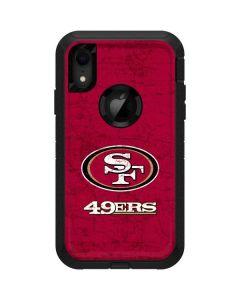 San Francisco 49ers Distressed Otterbox Defender iPhone Skin