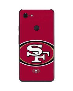 San Francisco 49ers Large Logo Google Pixel 3 XL Skin