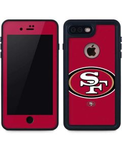 San Francisco 49ers Large Logo iPhone 8 Plus Waterproof Case