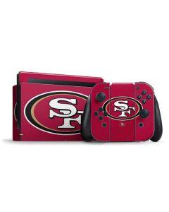 San Francisco 49ers Large Logo Nintendo Switch Bundle Skin
