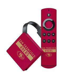 San Francisco 49ers Red Performance Series Amazon Fire TV Skin