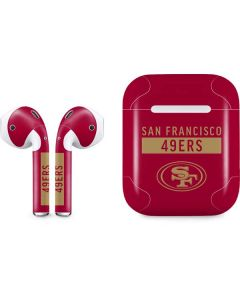 San Francisco 49ers Red Performance Series Apple AirPods Skin