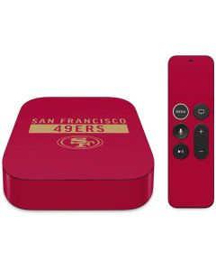 San Francisco 49ers Red Performance Series Apple TV Skin