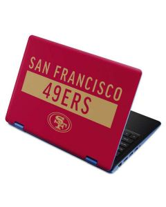 San Francisco 49ers Red Performance Series Aspire R11 11.6in Skin