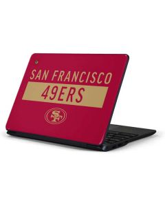 San Francisco 49ers Red Performance Series Samsung Chromebook Skin