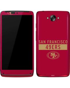 San Francisco 49ers Red Performance Series Motorola Droid Skin