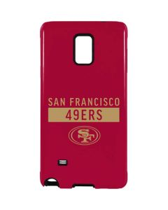 San Francisco 49ers Red Performance Series Galaxy Note 4 Pro Case
