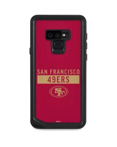 San Francisco 49ers Red Performance Series Galaxy Note 9 Waterproof Case