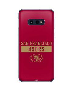 San Francisco 49ers Red Performance Series Galaxy S10e Skin