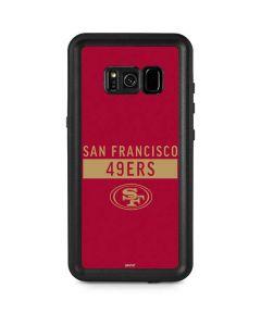San Francisco 49ers Red Performance Series Galaxy S8 Plus Waterproof Case