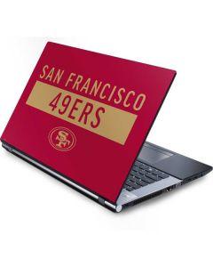 San Francisco 49ers Red Performance Series Generic Laptop Skin