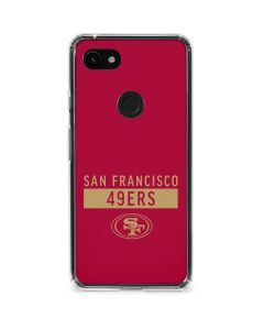 San Francisco 49ers Red Performance Series Google Pixel 3a Clear Case