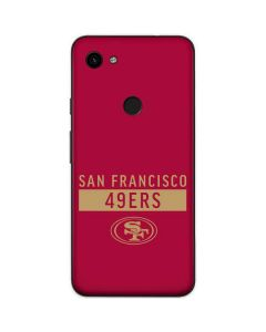 San Francisco 49ers Red Performance Series Google Pixel 3a Skin