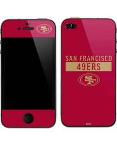 San Francisco 49ers Red Performance Series iPhone 4&4s Skin