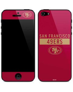 San Francisco 49ers Red Performance Series iPhone 5/5s/SE Skin