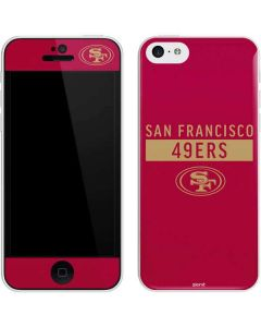 San Francisco 49ers Red Performance Series iPhone 5c Skin