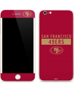 San Francisco 49ers Red Performance Series iPhone 6/6s Plus Skin