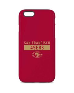 San Francisco 49ers Red Performance Series iPhone 6 Pro Case