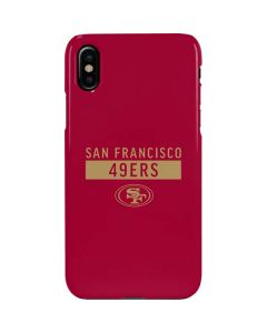 San Francisco 49ers Red Performance Series iPhone XS Max Lite Case