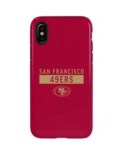 San Francisco 49ers Red Performance Series iPhone XS Max Pro Case