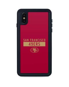 San Francisco 49ers Red Performance Series iPhone XS Max Waterproof Case
