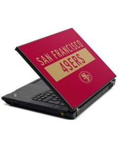 San Francisco 49ers Red Performance Series Lenovo T420 Skin
