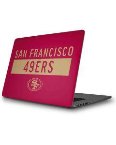 San Francisco 49ers Red Performance Series Apple MacBook Pro Skin