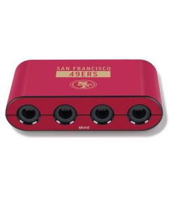 San Francisco 49ers Red Performance Series Nintendo GameCube Controller Adapter Skin